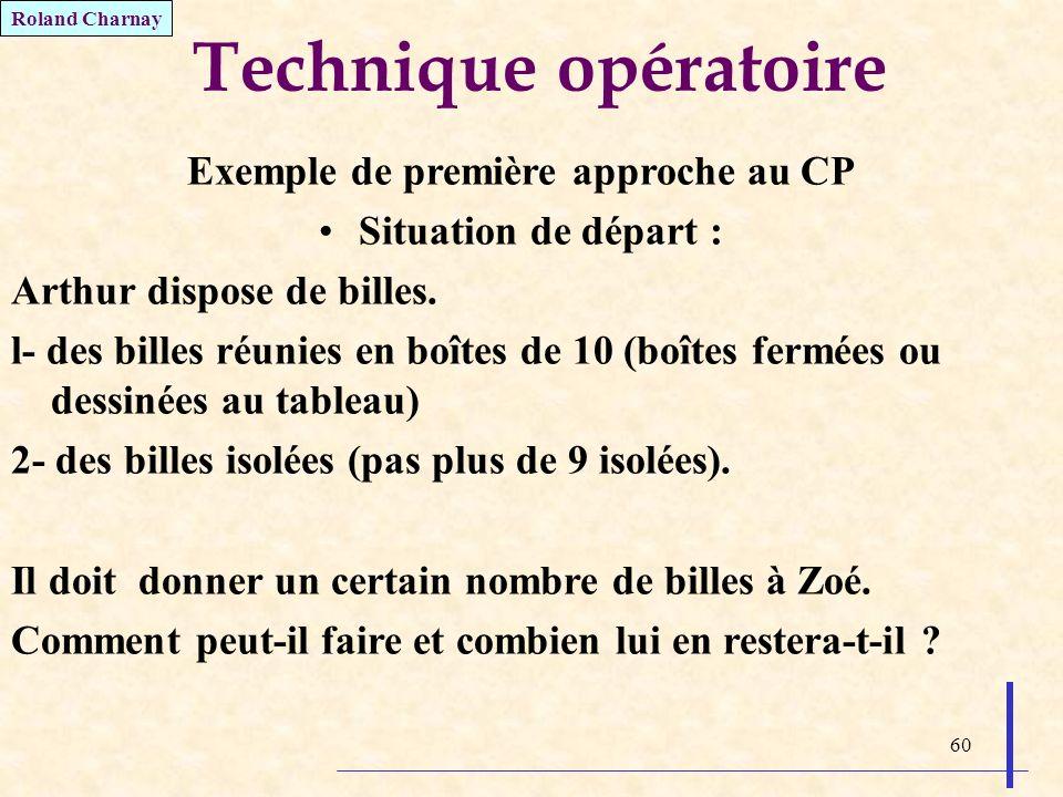 Exemple de première approche au CP