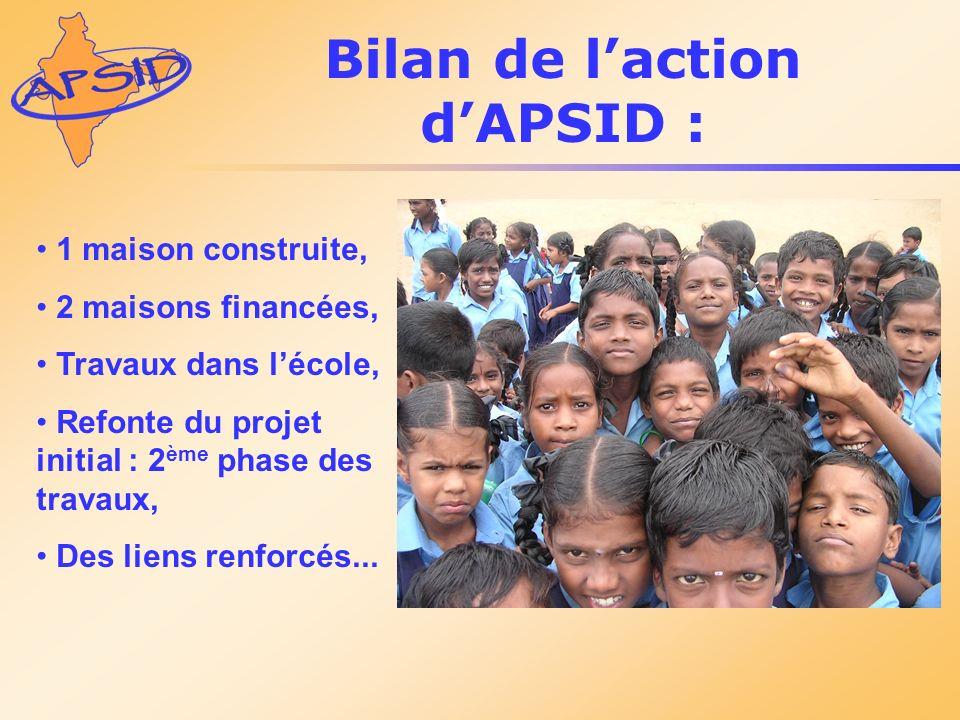 Bilan de l'action d'APSID :