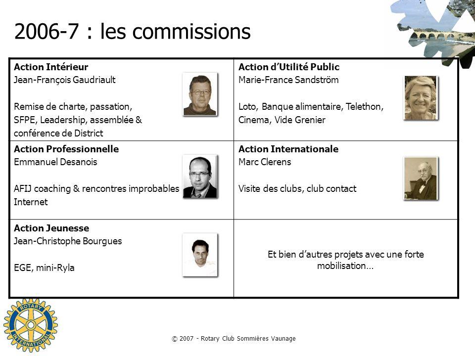 2006-7 : les commissions Action Intérieur Jean-François Gaudriault