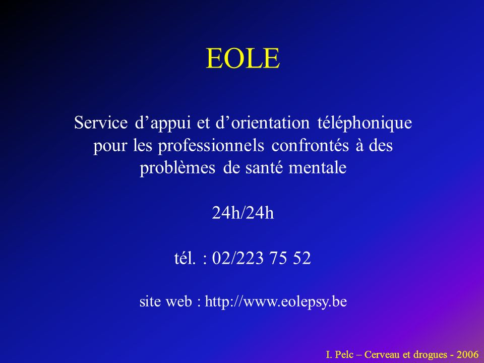 site web : http://www.eolepsy.be