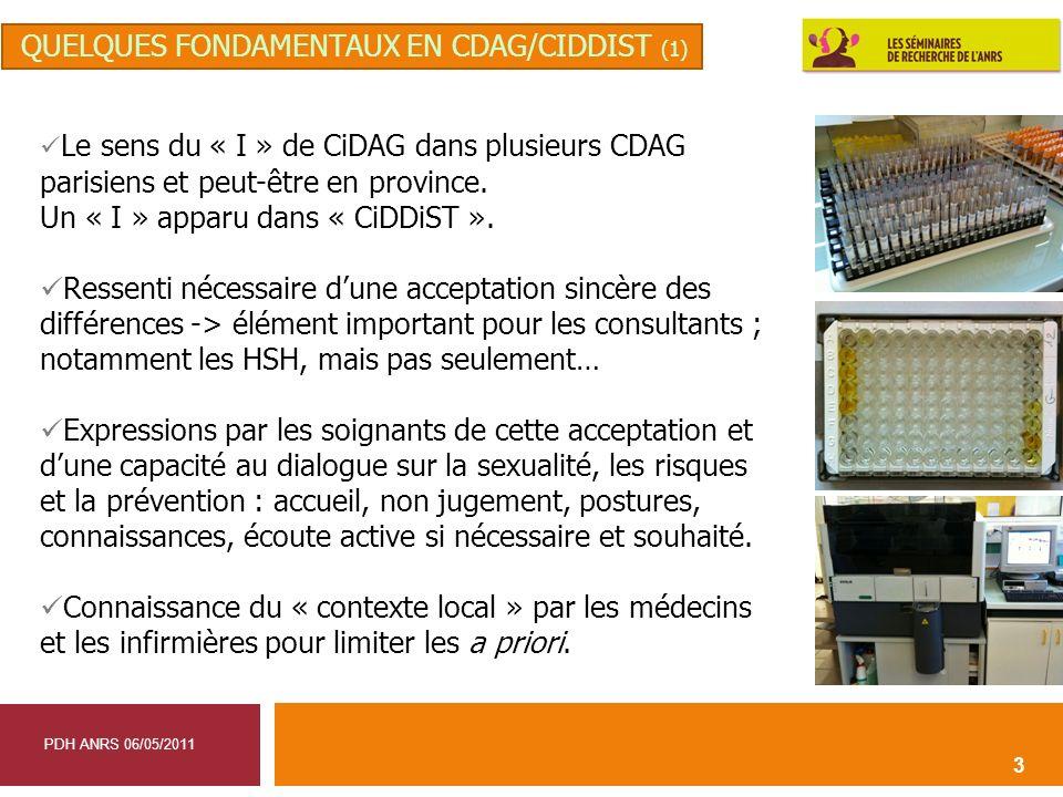 quelques fondamentaux en CDAG/CIDDIST (1)