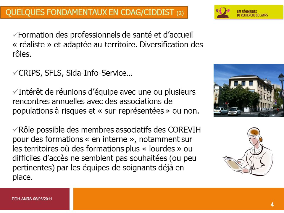 quelques fondamentaux en CDAG/CIDDIST (2)