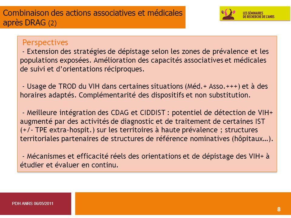 Combinaison des actions associatives et médicales après DRAG (2)