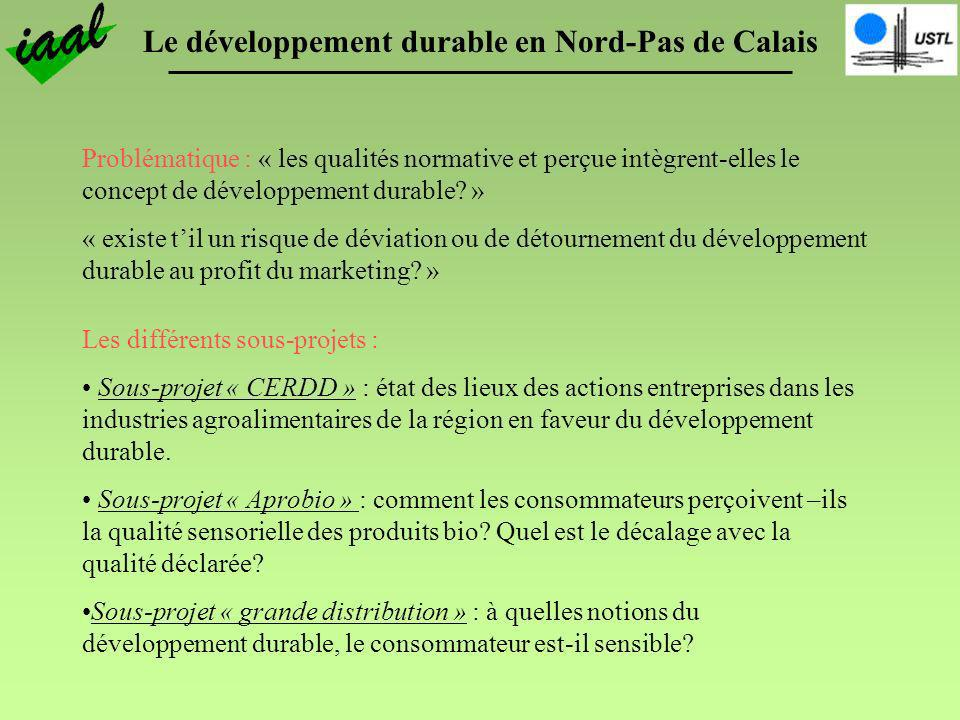 Problématique : « les qualités normative et perçue intègrent-elles le concept de développement durable »