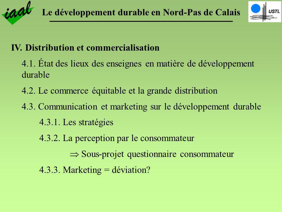 IV. Distribution et commercialisation