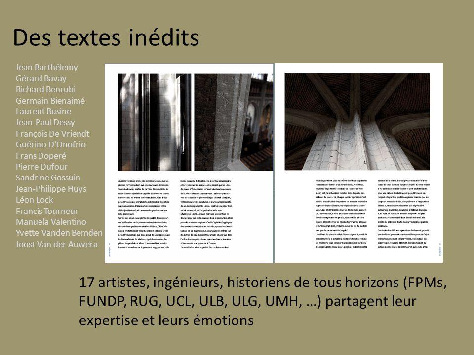 Des textes inédits Jean Barthélemy. Gérard Bavay Richard Benrubi. Germain Bienaimé. Laurent Busine Jean-Paul Dessy.