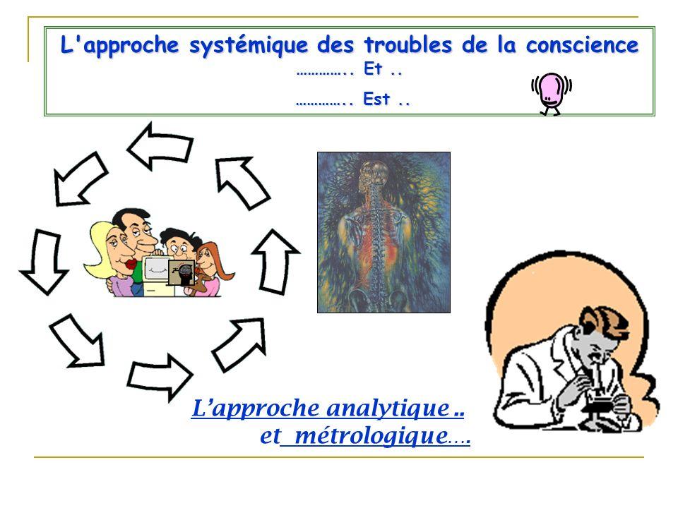 L approche systémique des troubles de la conscience ………….. Et ..
