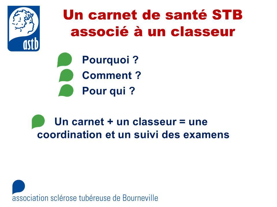 Un carnet de santé STB associé à un classeur
