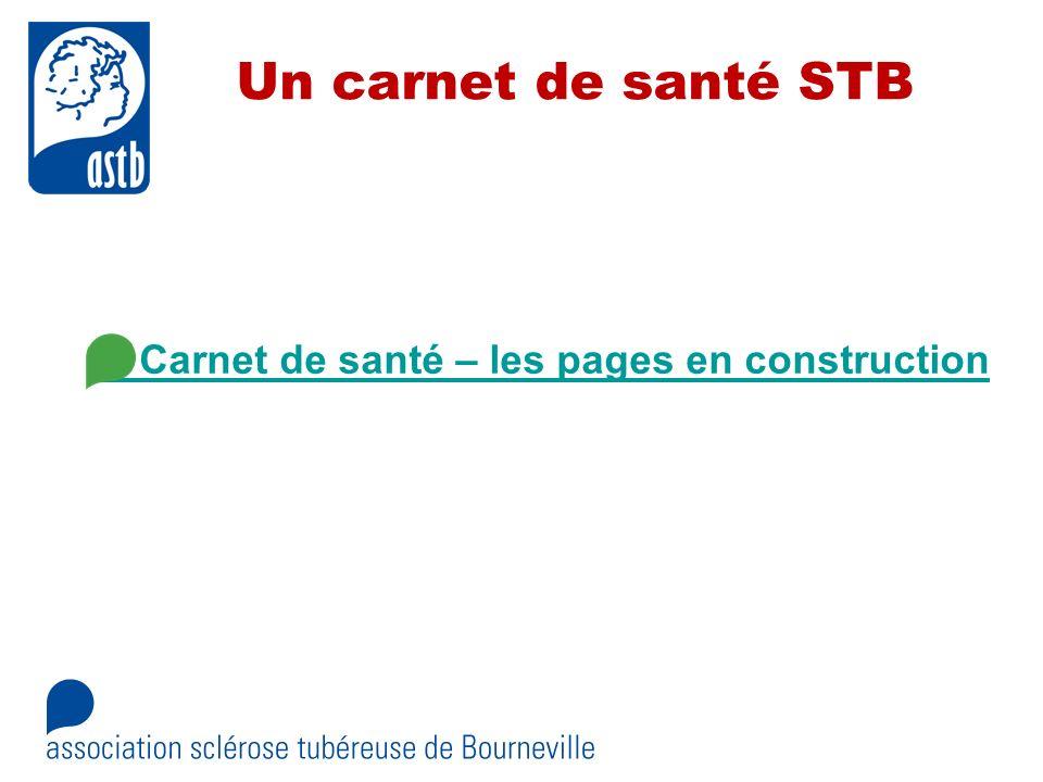 Un carnet de santé STB Carnet de santé – les pages en construction