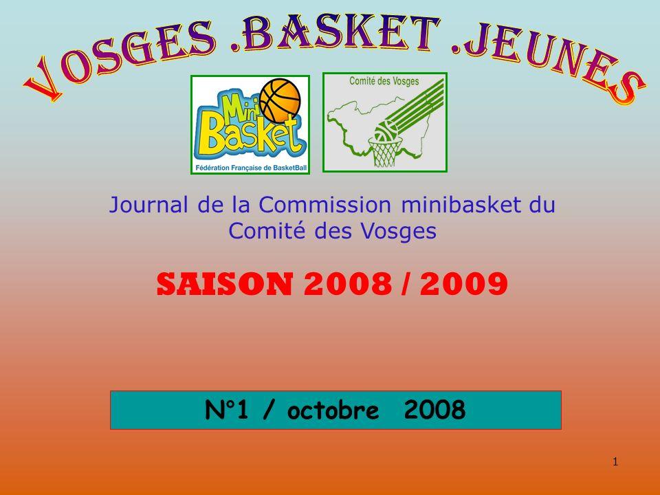 Journal de la Commission minibasket du Comité des Vosges