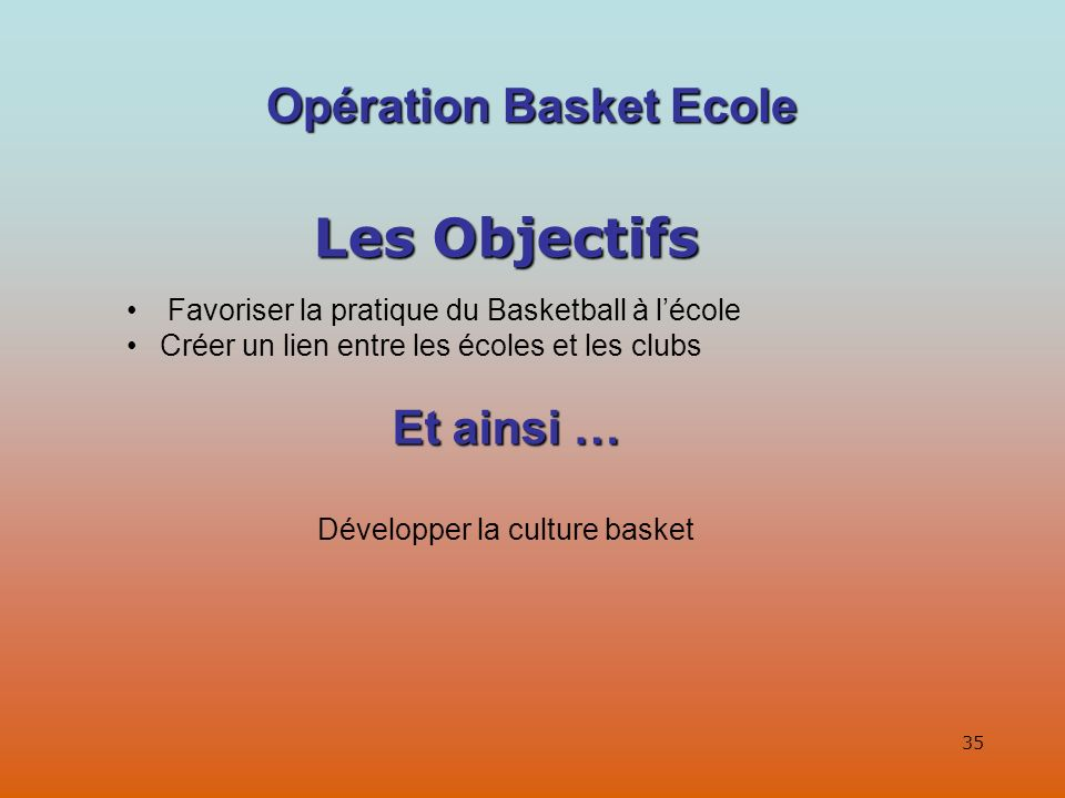 Opération Basket Ecole
