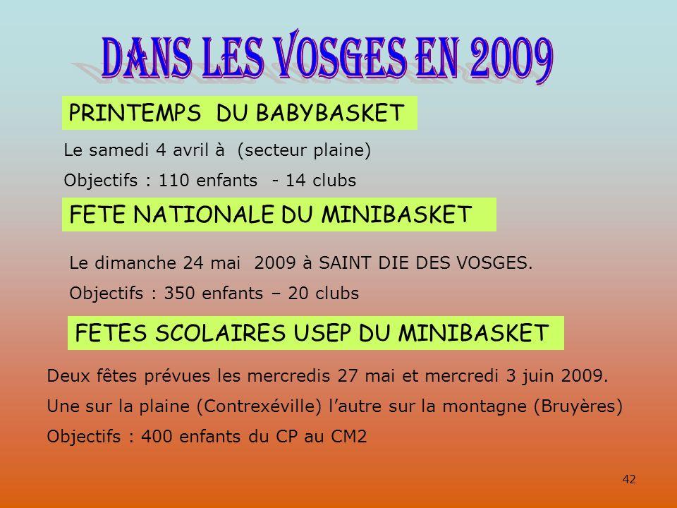 DANS LES VOSGES EN 2009 PRINTEMPS DU BABYBASKET