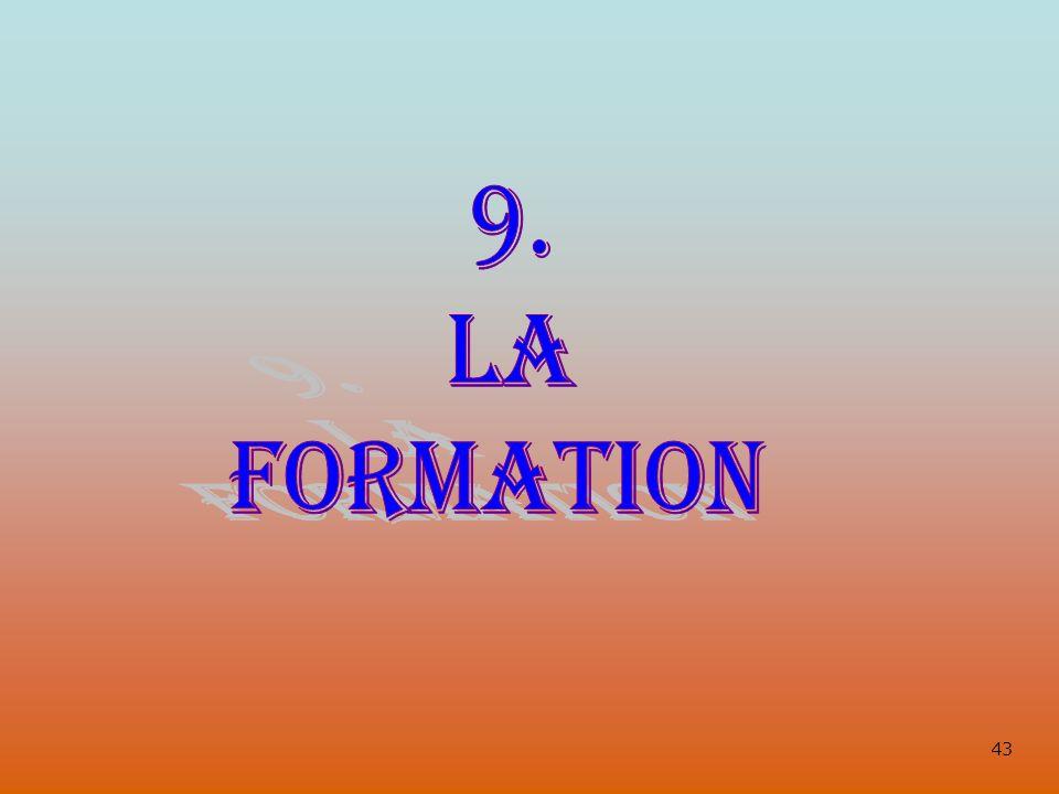 9. LA FORMATION 43