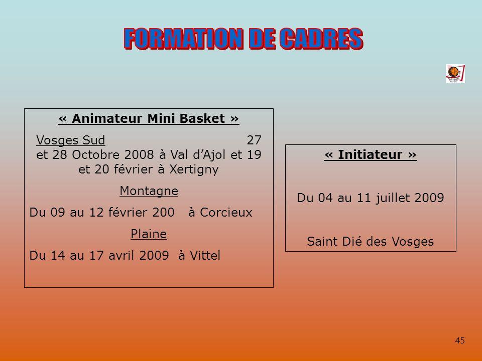 « Animateur Mini Basket »