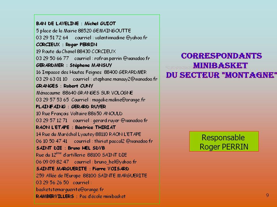 Responsable Roger PERRIN