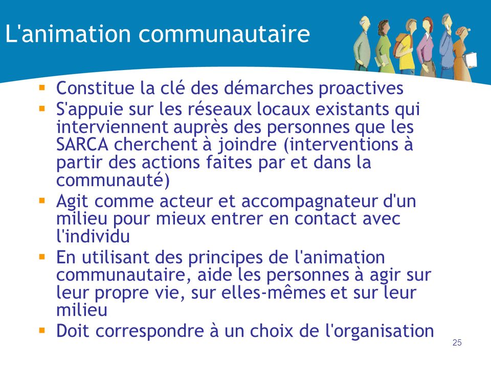 L animation communautaire