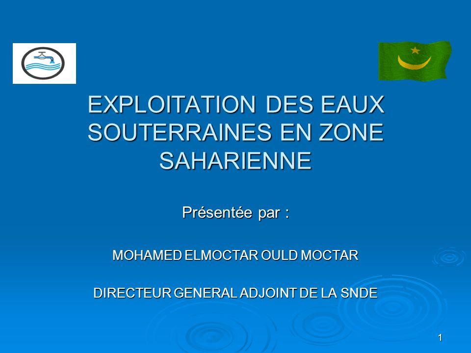 EXPLOITATION DES EAUX SOUTERRAINES EN ZONE SAHARIENNE