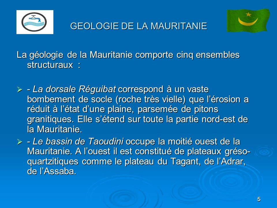 GEOLOGIE DE LA MAURITANIE