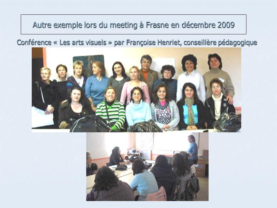 Autre exemple lors du meeting à Frasne en décembre 2009