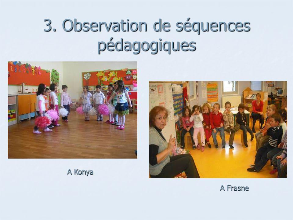 3. Observation de séquences pédagogiques
