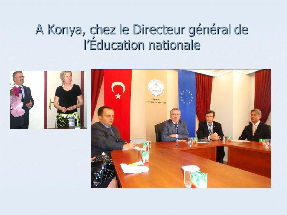 A Konya, chez le Directeur général de l'Éducation nationale