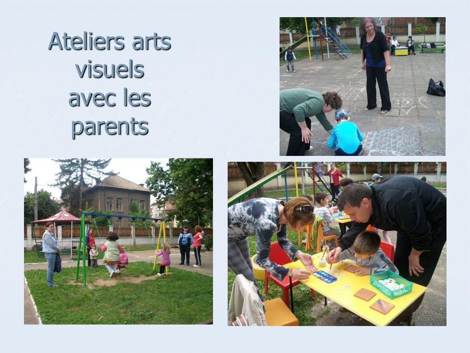 Ateliers arts visuels avec les parents