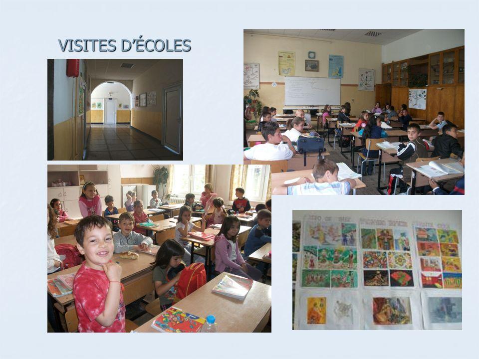 VISITES D'ÉCOLES