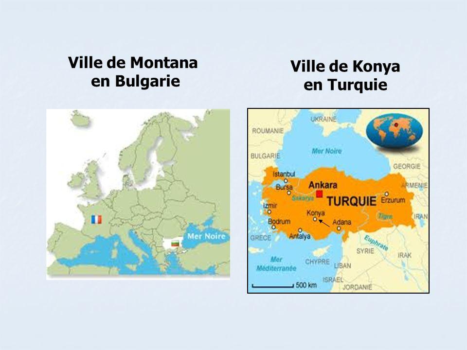 Ville de Montana en Bulgarie Ville de Konya en Turquie