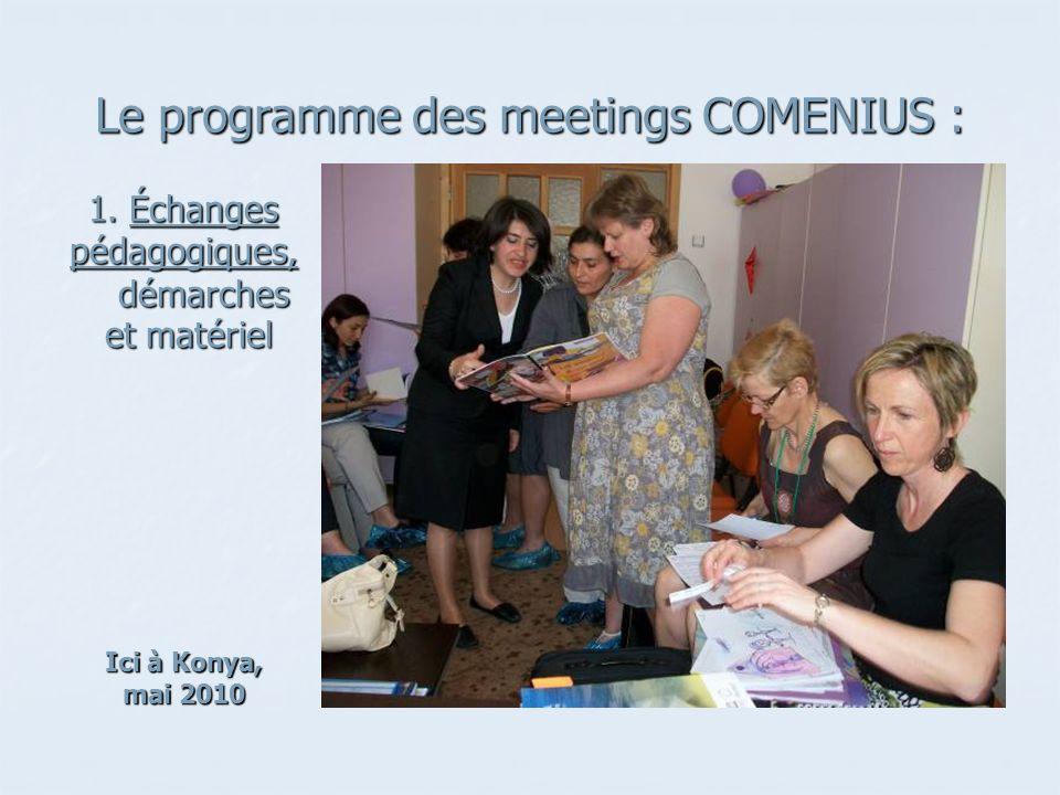 Le programme des meetings COMENIUS :