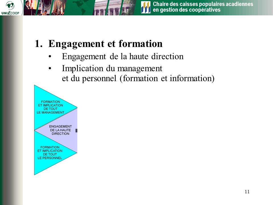 Engagement et formation