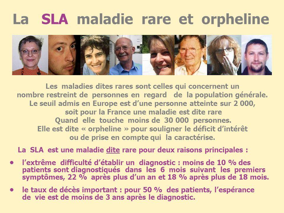 La SLA maladie rare et orpheline