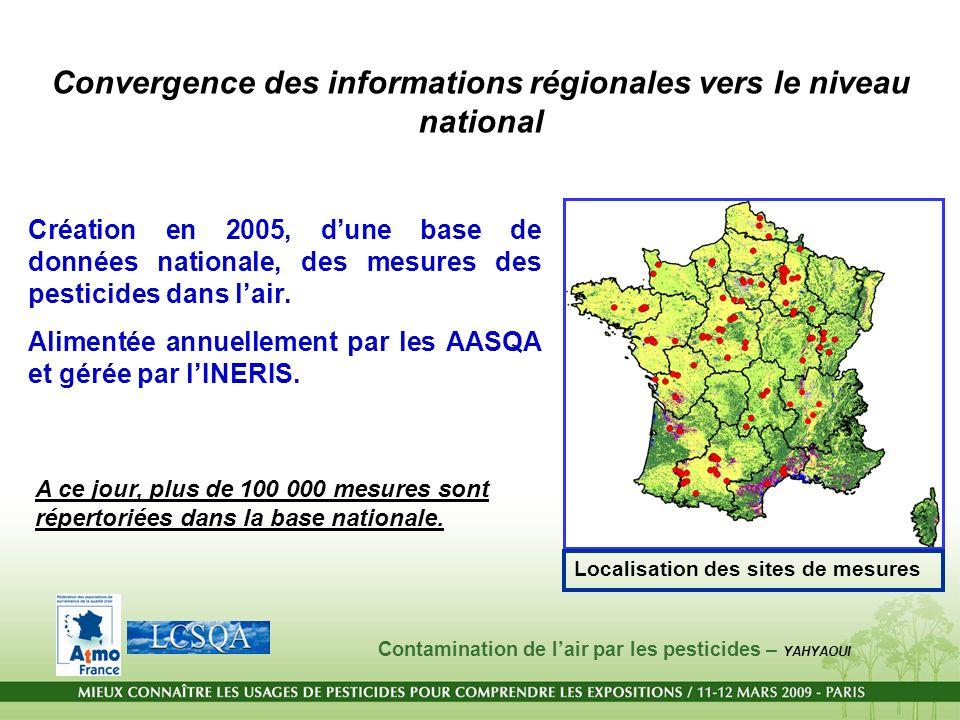 Convergence des informations régionales vers le niveau national