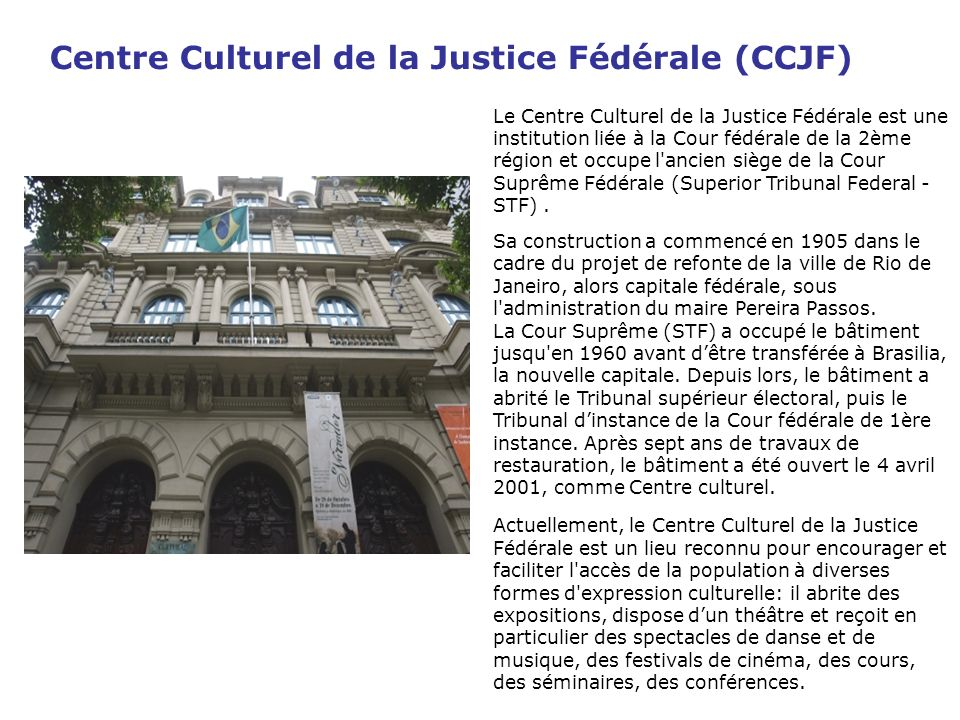 Centre Culturel de la Justice Fédérale (CCJF)