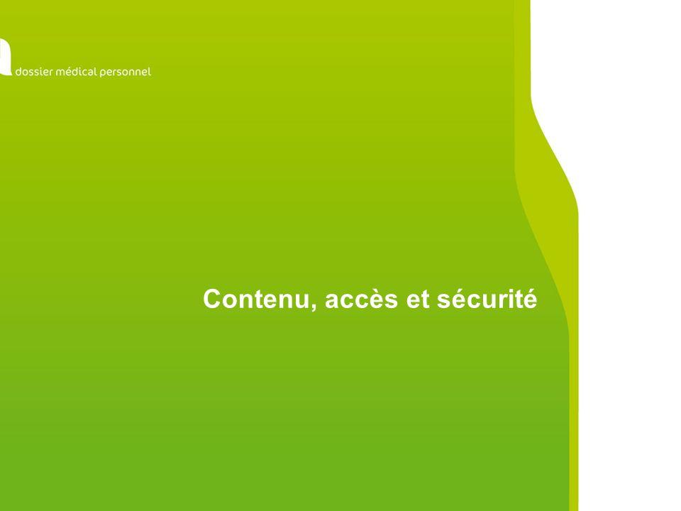 Contenu, accès et sécurité