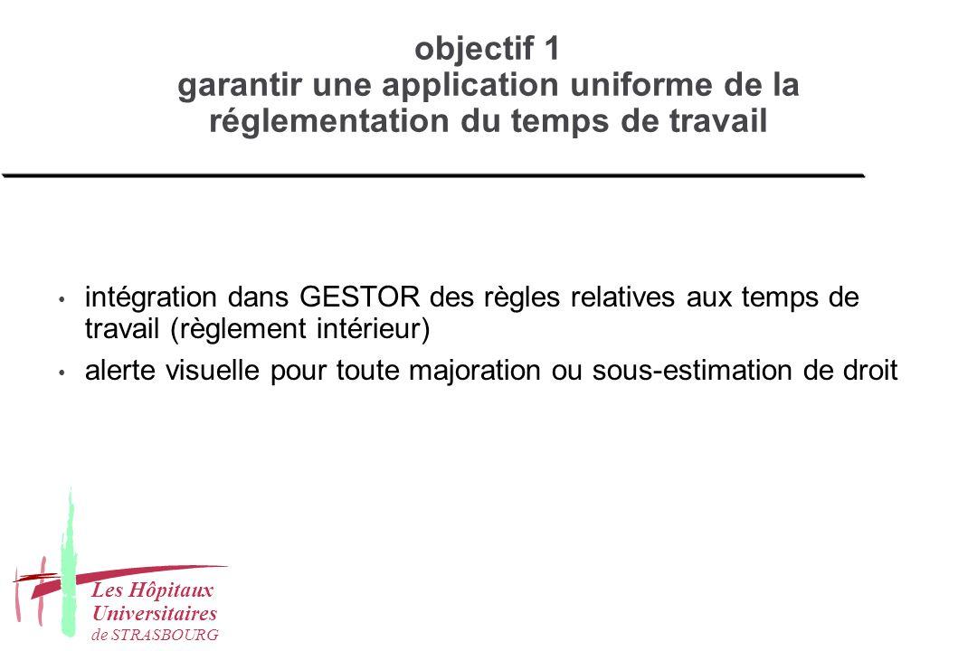 objectif 1 garantir une application uniforme de la réglementation du temps de travail
