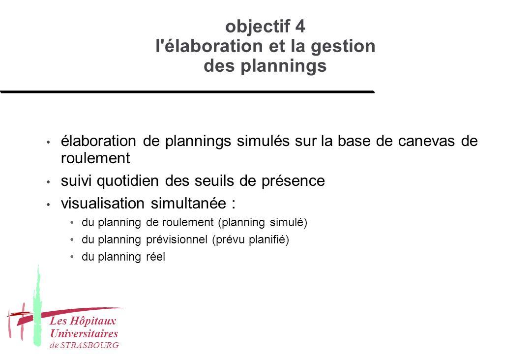 objectif 4 l élaboration et la gestion des plannings