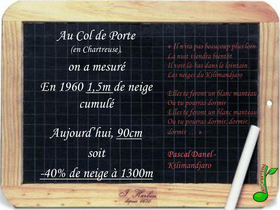Au Col de Porte (en Chartreuse),