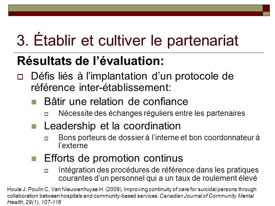 3. Établir et cultiver le partenariat