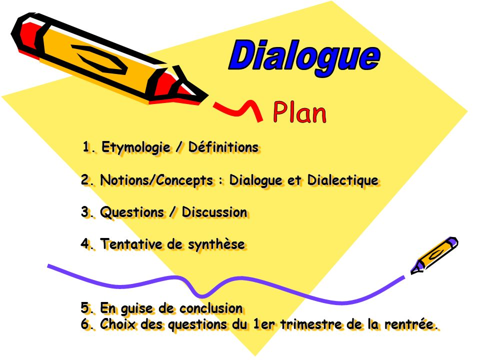 Dialogue Plan.
