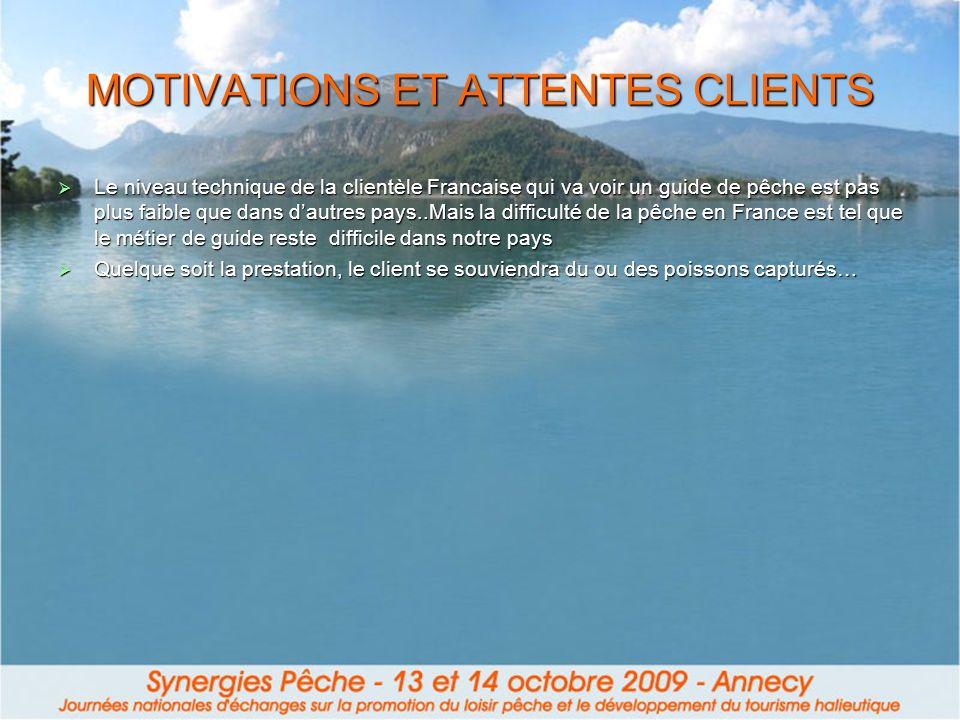 MOTIVATIONS ET ATTENTES CLIENTS