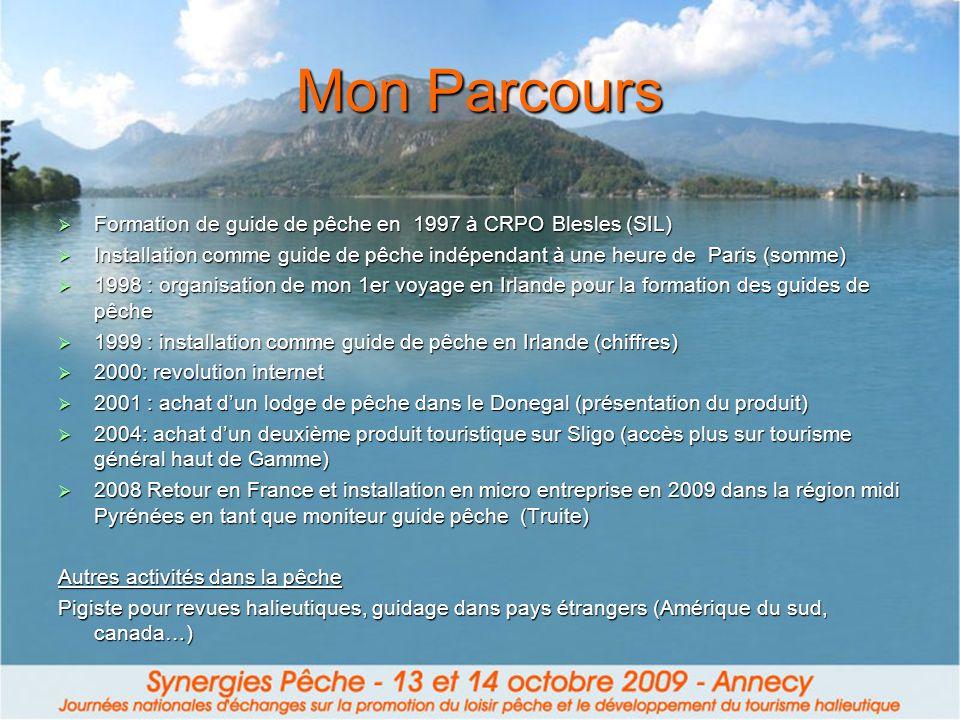 Mon Parcours Formation de guide de pêche en 1997 à CRPO Blesles (SIL) Installation comme guide de pêche indépendant à une heure de Paris (somme)