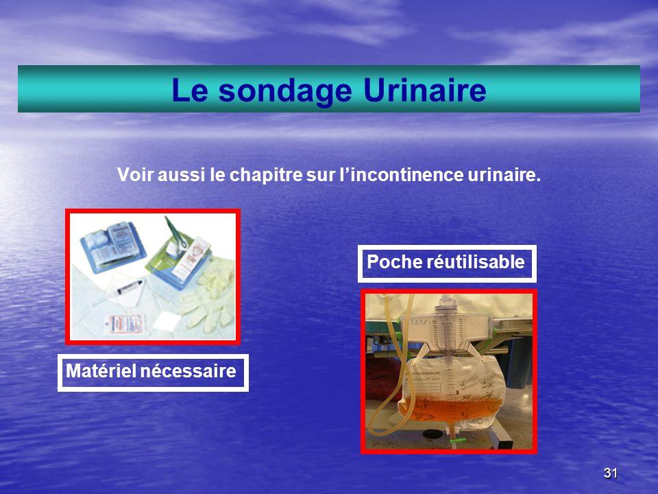 Voir aussi le chapitre sur l'incontinence urinaire.
