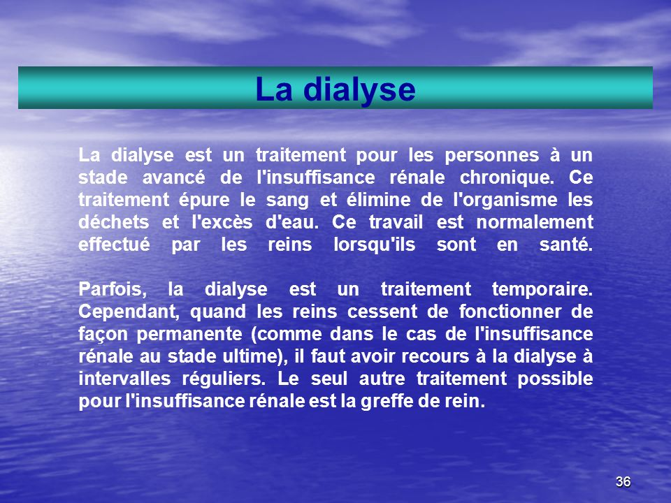 La dialyse
