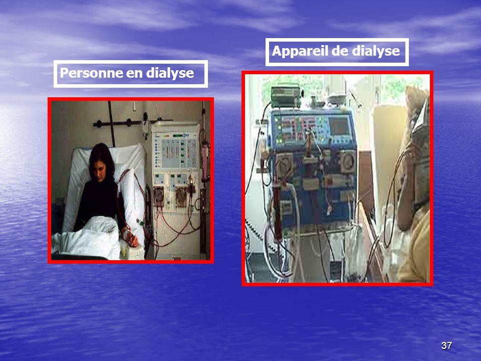 Appareil de dialyse Personne en dialyse