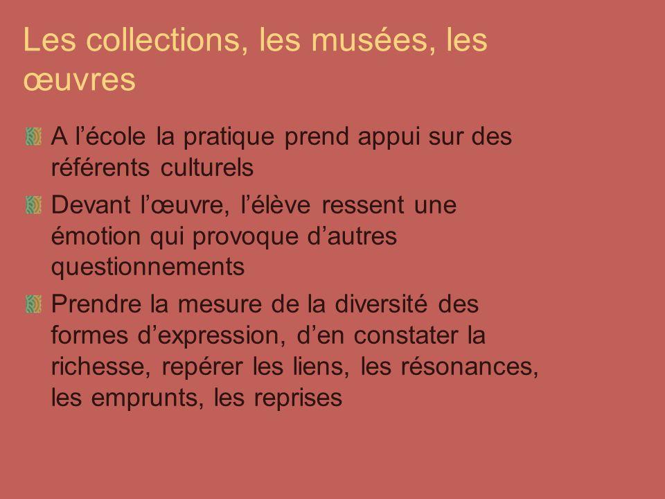 Les collections, les musées, les œuvres