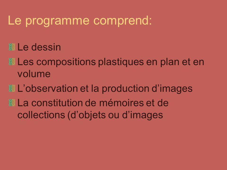 Le programme comprend: