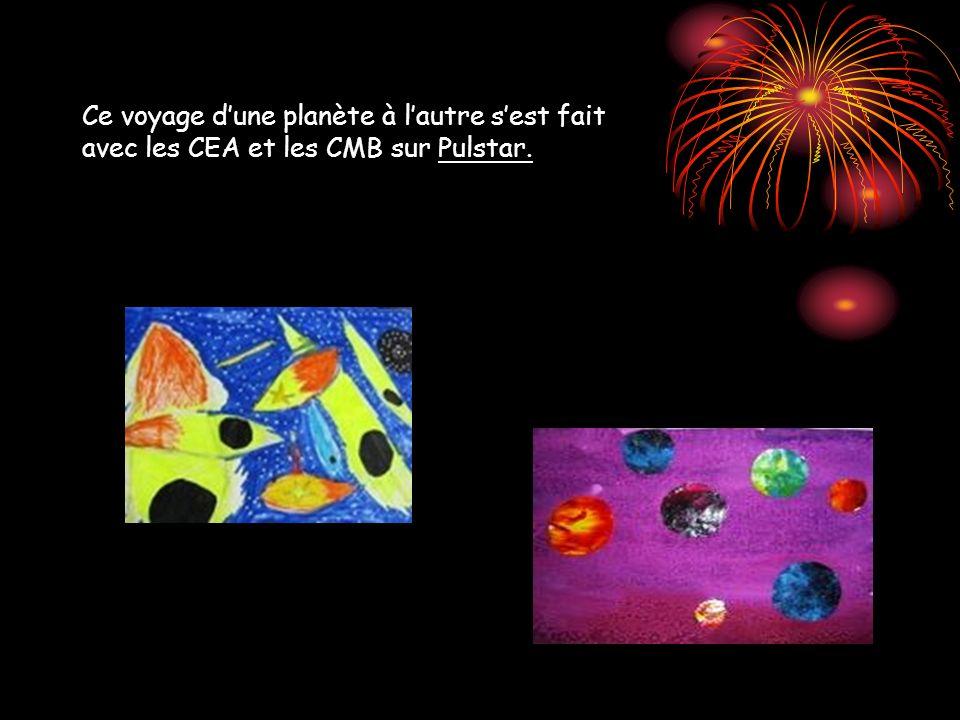 Ce voyage d'une planète à l'autre s'est fait avec les CEA et les CMB sur Pulstar.