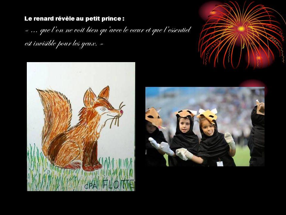 Le renard révèle au petit prince : «