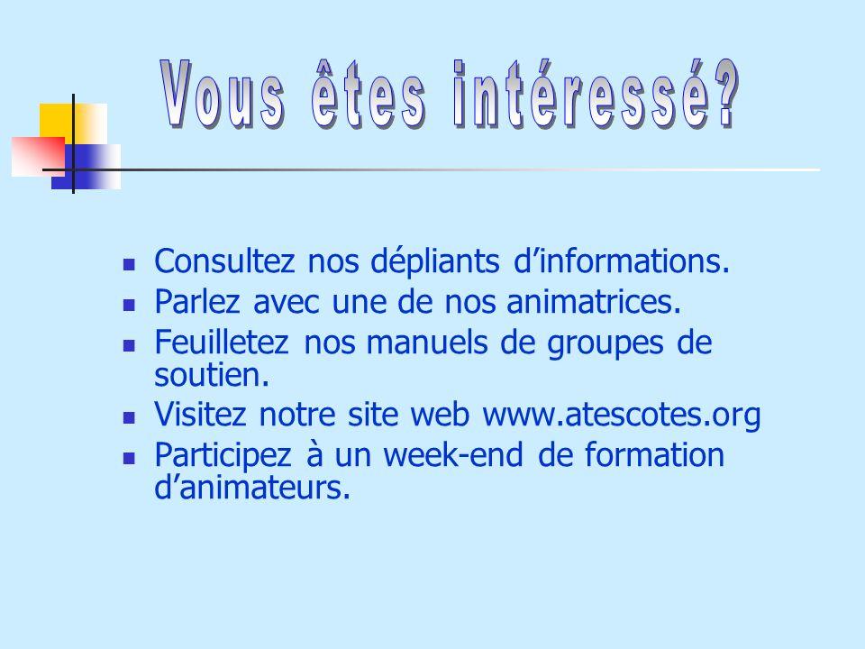 Vous êtes intéressé Consultez nos dépliants d'informations.