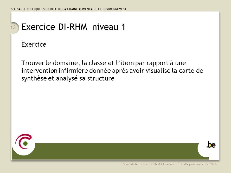 Exercice DI-RHM niveau 1
